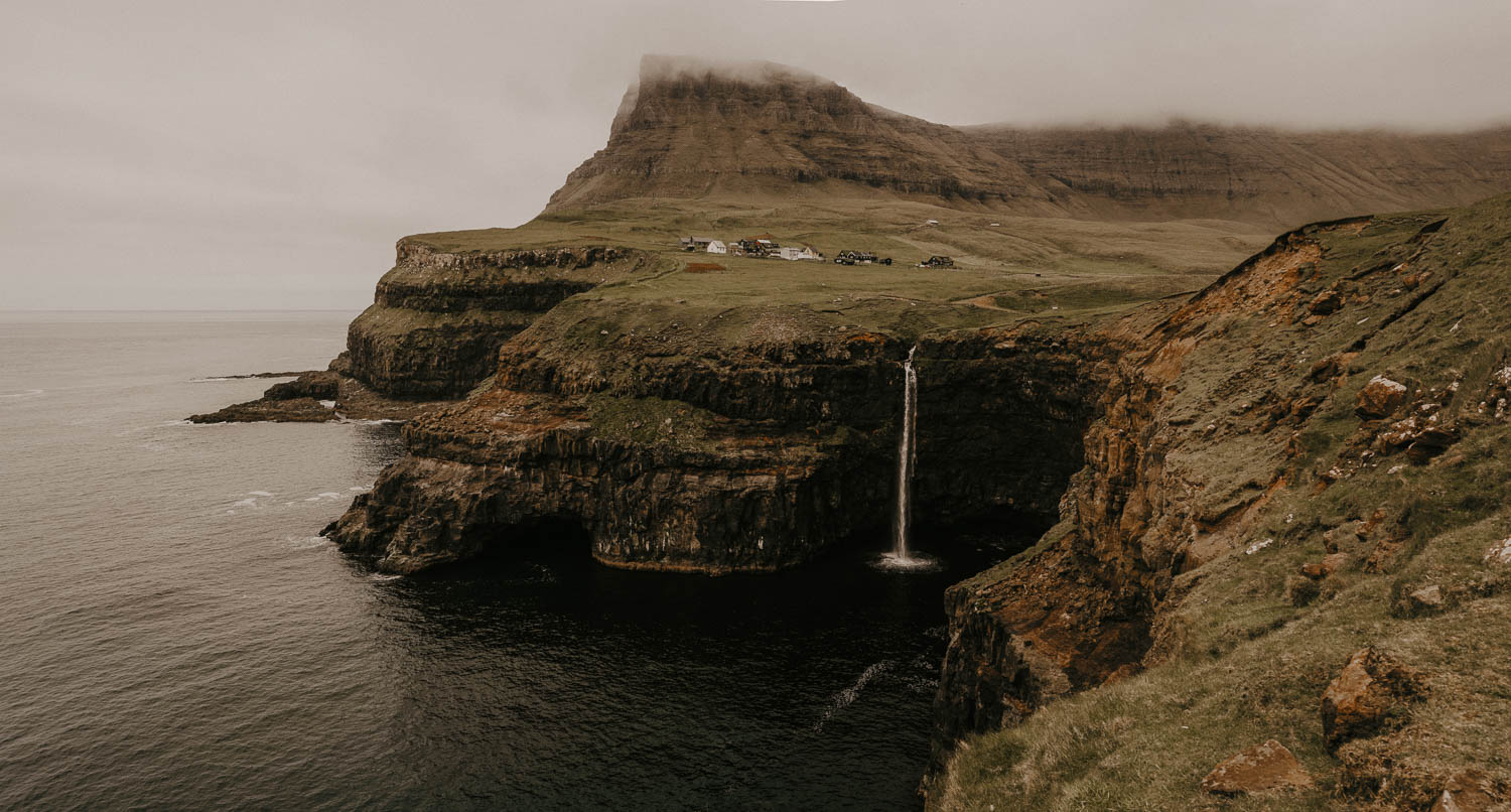 Faroe Islands Gasadalur elopement